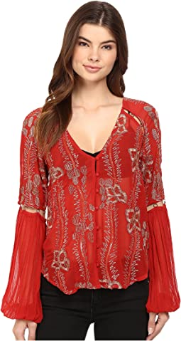 Viscose Gorgette Firecracker Embellished Top