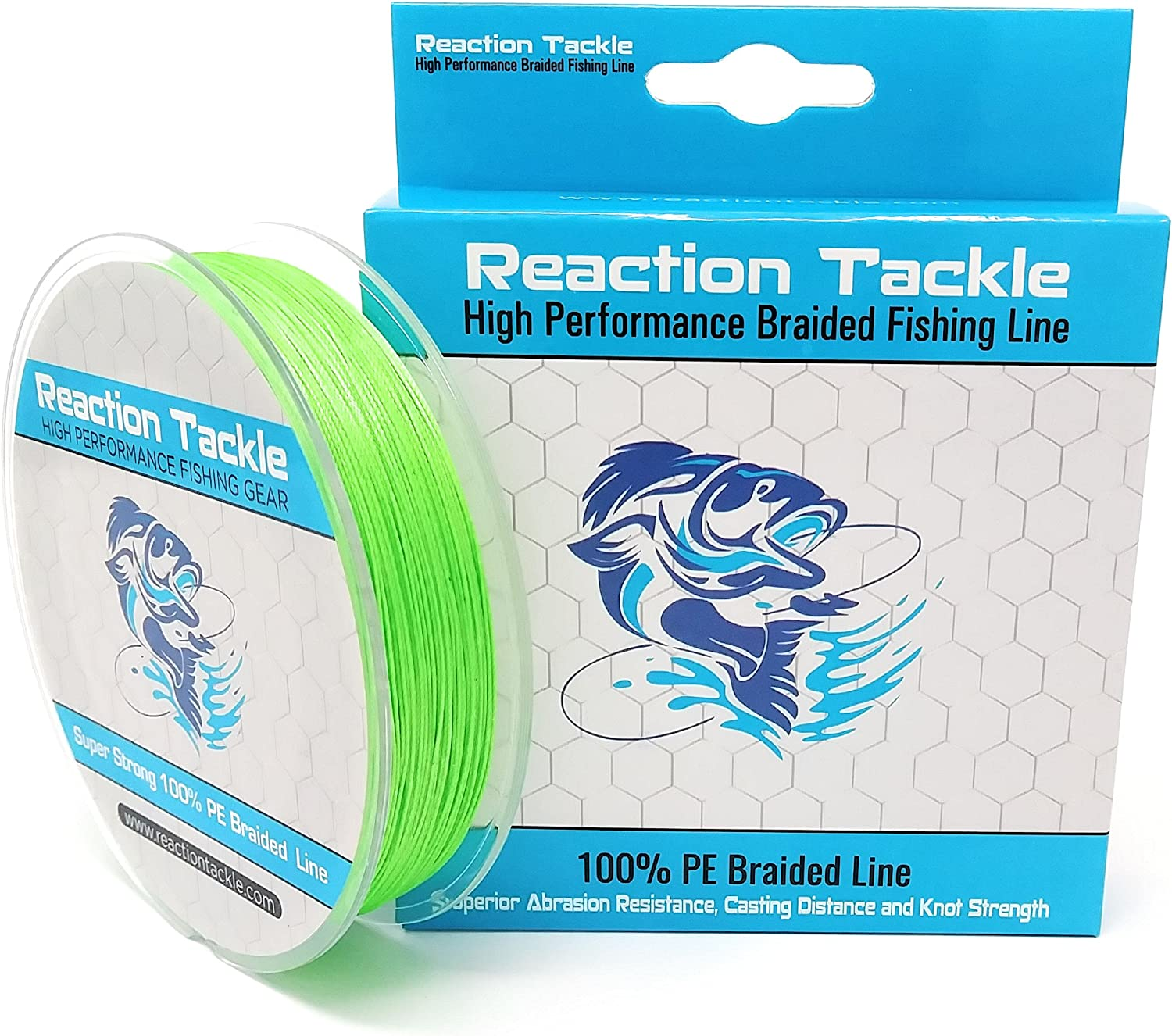 Braid Reaction Tackle High Performance Braided Fishing Line NO FADE Blue