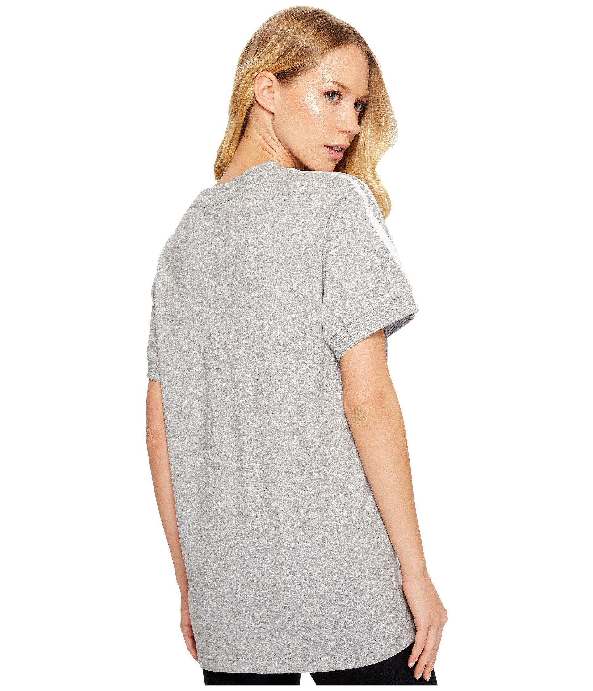 Heather Stripes 3 Tee Originals Grey Medium Adidas Y1qfw1