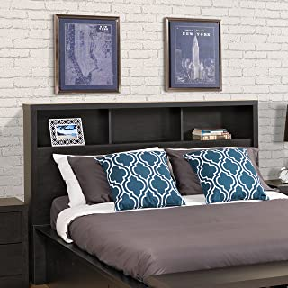 Prepac District Double Headboard, Queen, Washed Black
