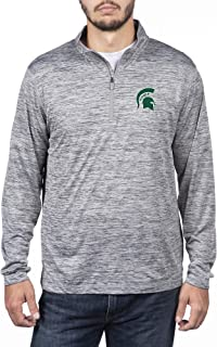 Top of the World NCAA Men's Dark Heather Space Dyed Poly Quarter Zip Pullover