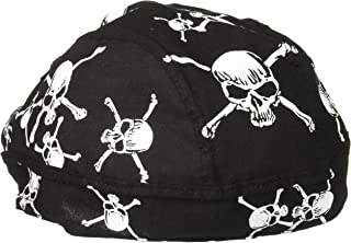 Zanheadgear Flydanna Bandanna, 100% Cotton, White Skull and Crossbones