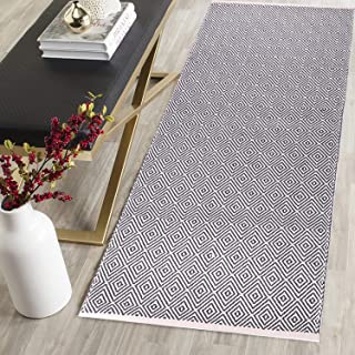 HEBE Extra Long Cotton Area Rug Runner 2'x6' Reversible Hand Woven Cotton Throw Rug Floor Mat Carpet Runner for Kitchen Be...