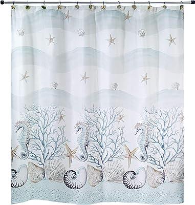 Avanti Linens Coastal Terrazzo Shower Curtain, Multicolor