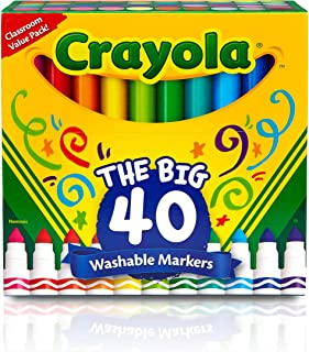 Crayola Ultra Clean Washable Broad Line Markers, 40...