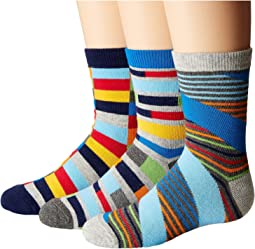 Jefferies Socks Funky Stripe Crew 3-Pack (Toddler/Little Kid/Big Kid)