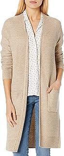 Goodthreads Amazon Brand Women's Everyday Soft Blend Honeycomb Long Line Cardigan Sweater
