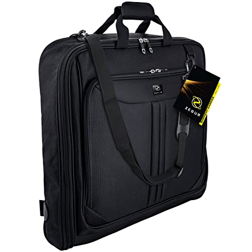 2281a10675 ZEGUR Suit Carry On Garment Bag for Travel   Business Trips With Shoulder  Strap