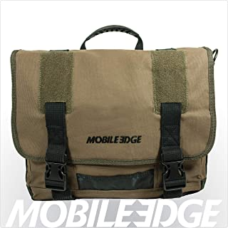 Mobile Edge Olive Green Chromebook Laptop Eco Messenger, Eco-Friendly, 14.1 Inch PC, 15 Inch Mac, Cotton Canvas for Men, Women, Business, Students MEUME9