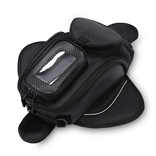 Motorcycle Tank Bag Waterproof with Strong Magnetic Motorbike Bag for Honda Yamaha Suzuki Kawasaki Harley Small