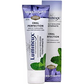 Lumineux Oral Essentials Toothpaste for Sensitivity Relief | Fluoride Free, Certified Non Toxic | NO Artificial Flavors, Colors, SLS Free, Dentist Formulated | Reduce Tooth Sensitivity in 2 Weeks