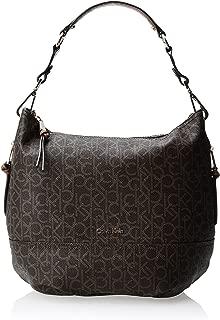 Calvin Klein Women's Hudson Monogram Hobo Shoulder Bag, Brown/Khaki Monogram