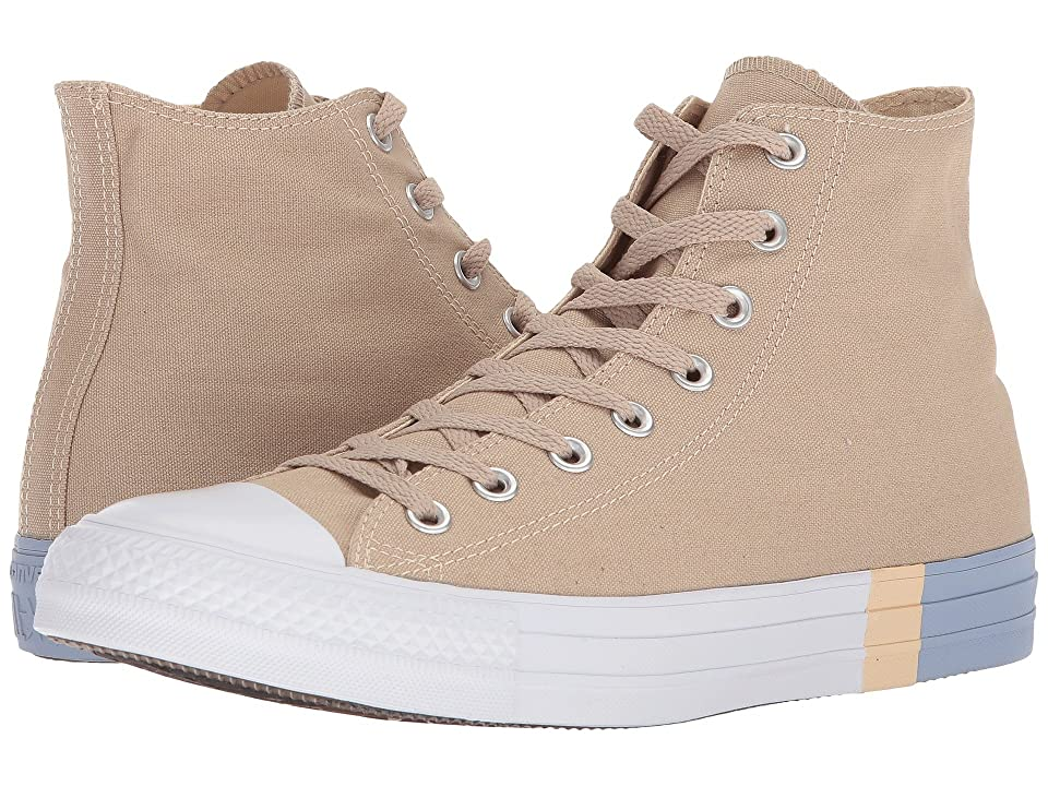Converse Chuck Taylor(r) All Star Tri Block Midsole Hi (Vintage Khaki/Light Twine/Glacier Grey) Classic Shoes