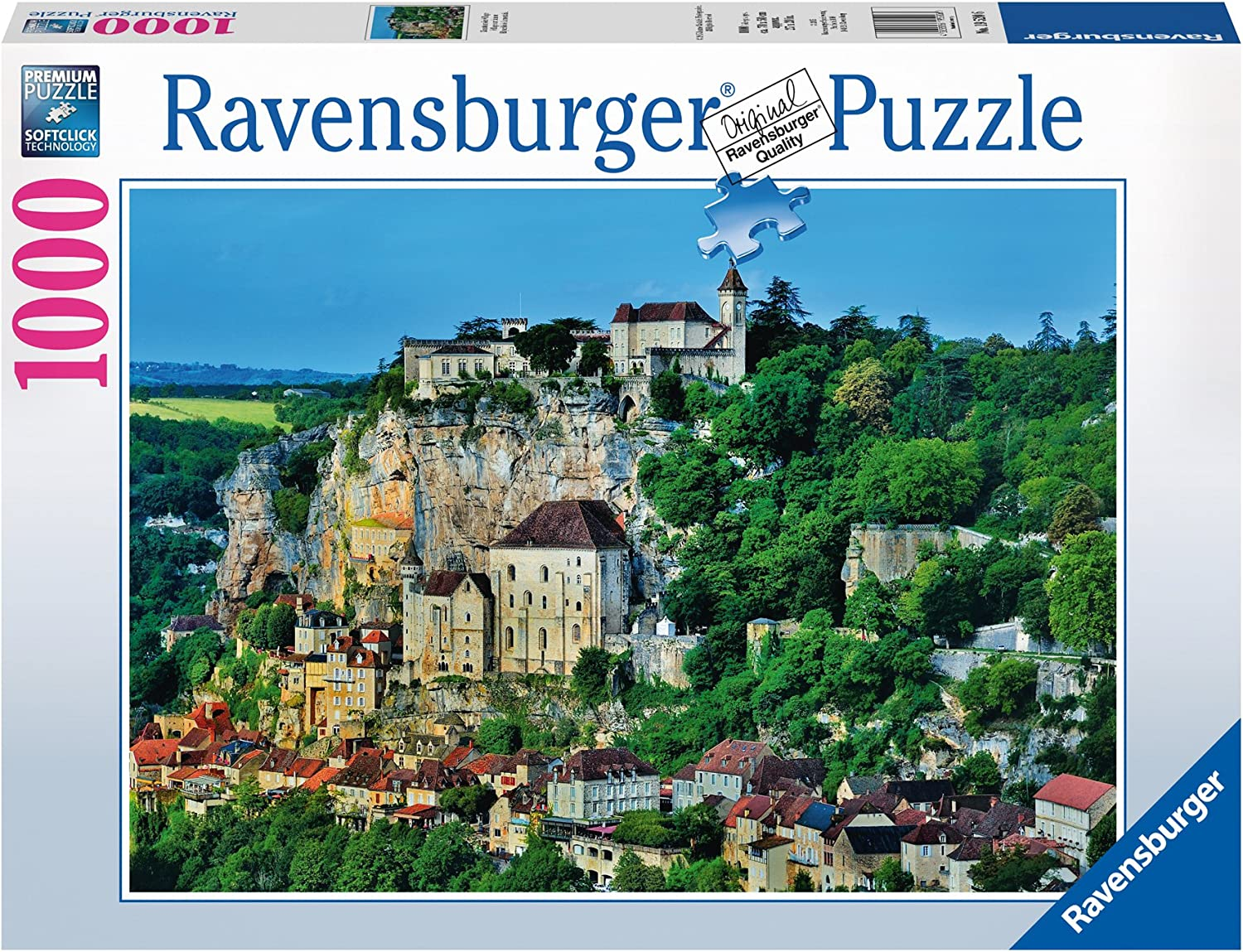 Ravensburger Mountainside Village 1000 Piece Jigsaw Puzzle for Adults – Every piece is unique, Softclick technology Means Pieces Fit Together Perfectly