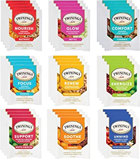 Sponsored Ad - Twinings Wellness Herbal Tea Bags Sampler Assortment Variety Pack Gift Box - 36 Count - Perfect Variety