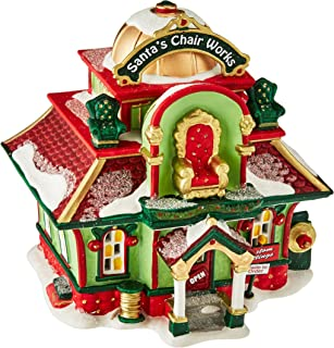 Department 56 North Pole Village Santa's Chair Works Lit House