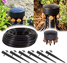 """USA MADE (6-Plant) - DIY Grow Kit - Great Hydroponics Drip Irrigation Kit - Includes 50ft 1/4 Inch Drip Tubing, 360 Adjustable Emitter Stakes, 6-Outlet Adjustable Manifold 0-20GPH 1/2"""" FPT (6-Plant)"""
