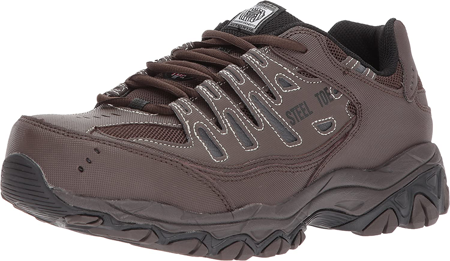 Skechers for Work Men's Cankton Industrial shoes,Brown,9 Medium US