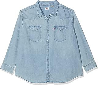 DUKE Grande Da Uomo D555 di marca Alto Kingsize Western Jeans Camicia A Maniche Lunghe Denim