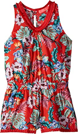 Seafolly Kids Jungle Paradise Fringing Jumpsuit Cover-Up (Big Kids)
