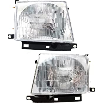 Headlight Assembly Compatible with 1997-2000 Toyota Tacoma Halogen Composite Passenger and Driver Side