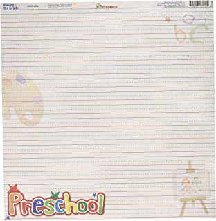 Reminisce Making The Grade 12 by 12-Inch Double Sided Scrapbook Paper, Preschool