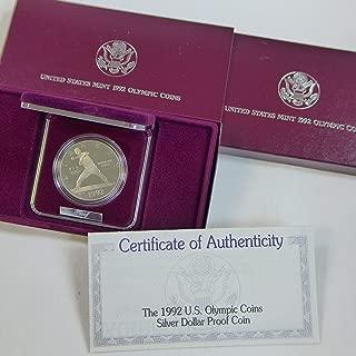 1992 P Commemorative Silver Dollar Olympic - Baseball $1 Proof US Mint