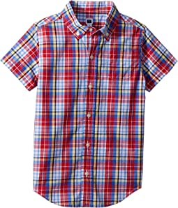 Short Sleeve Button Up Shirt (Toddler/Little Kids/Big Kids)