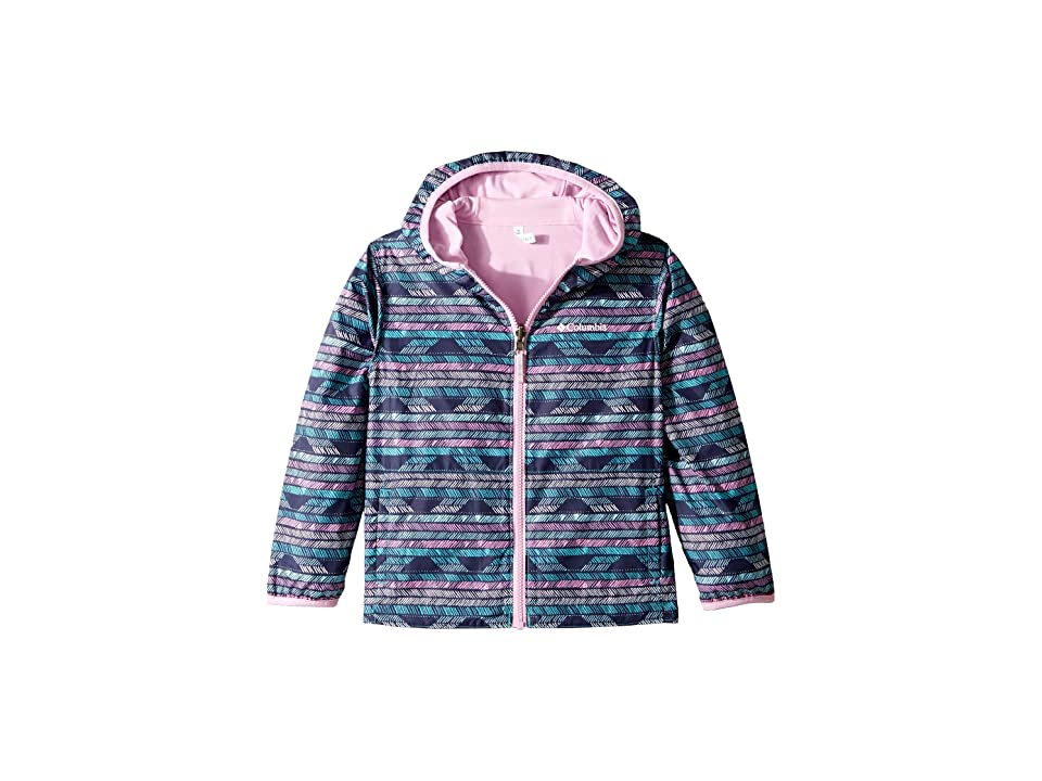 Columbia Kids Pixel Grabbertm Reversible Jacket (Little Kids/Big Kids) (Geyser Chevron/Pink Clover) Girl