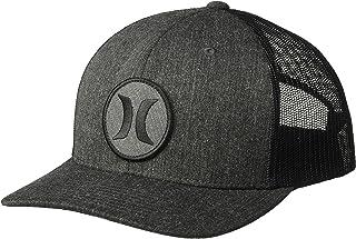 new style 0ea90 ffd04 Hurley Men s Black Textures Patch Trucker Baseball Cap