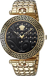 Versace Women's VK7250015 Vanitas Analog Display Swiss Quartz Gold Watch