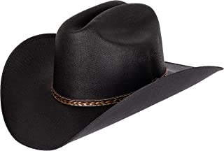 Classic Cattleman Straw Cowboy Hat Western Style Pinch Front Canvas Cowboy Cowgirl Hat