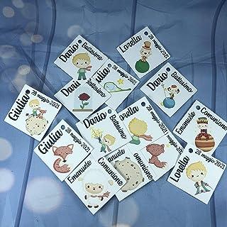 14 cartellini tag bigliettini Piccolo Principe personalizzati con nomi, data o frase, per bomboniere o segnaposto cerimoni...