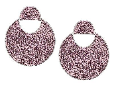 Kate Spade New York Mod Scallop Pave Drop Earrings (Light Amethyst) Earring