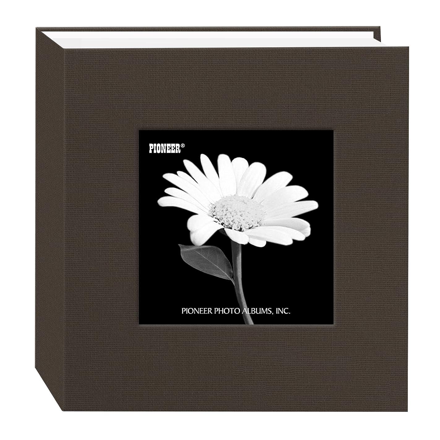 Pioneer 100 Pocket Fabric Frame Cover Photo Album, Warm Mocha lpq06593658