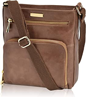 Crossbody Bags for Women - Real Leather Small Vintage Adjustable Shoulder Bag