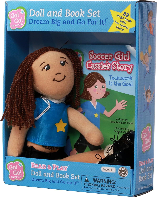 Go Go Sports Girls Cassie Soccer Cloth Doll & Book