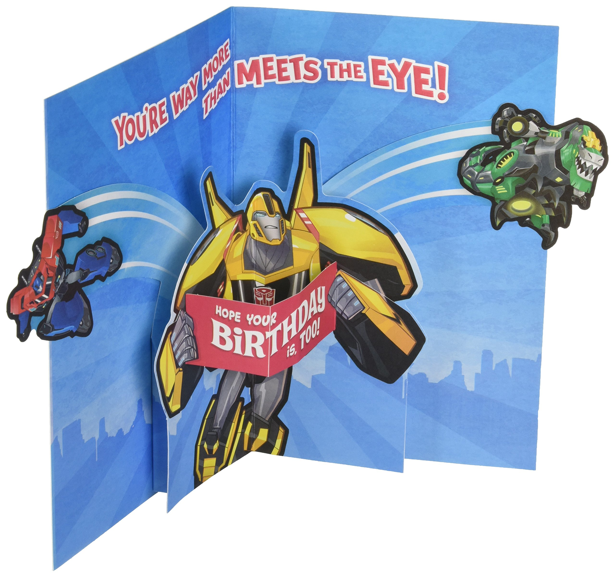 Transformers Happy Birthday Card Bumblebee Kid Squad