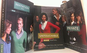 3 Volumes of PRIVATE Novels By Kate Brian: Private, Invitation Only, and Untouchable