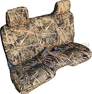 RealSeatCovers for Front Bench Thick A25 Molded Headrest Small Notched Cushion Seat Cover for Toyota Pickup 1990-1995 (Muddy Water Camo)