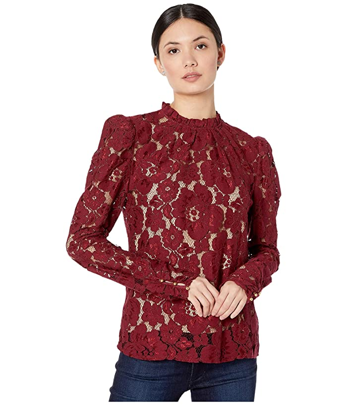 1890s-1900s Fashion, Clothing, Costumes WAYF Emma Puff Sleeve Top Burgundy Womens Blouse $89.00 AT vintagedancer.com
