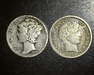 1945 silver dime