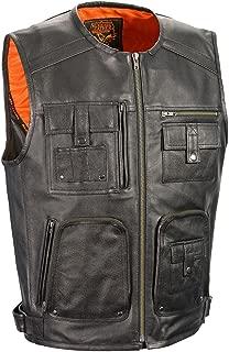 Men's Zipper Front Super Utility Multi Pocket Vest - Mlm3580