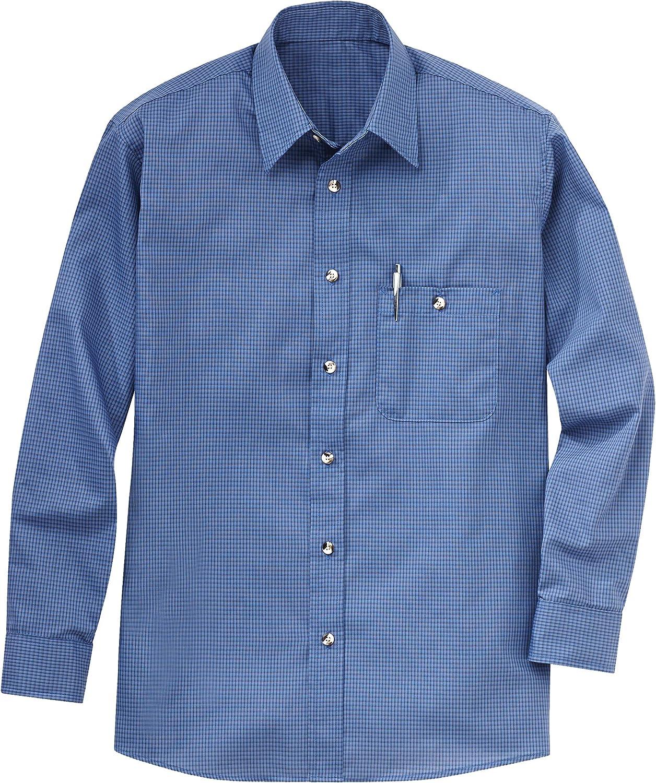 Red Kap Men's RK Mini Plaid Uniform Shirt