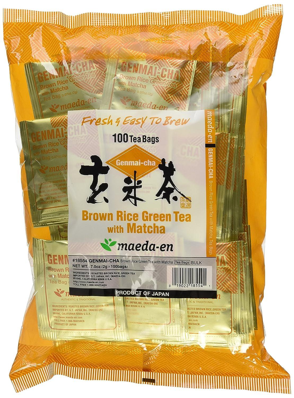 Maeda Max 57% OFF En Genmai-Cha With Matcha Tea Coun Roasted Ranking TOP9 100 Bags Rice
