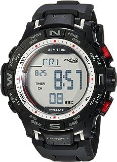 Armitron Sport 男士 40/8410 数字计时树脂表带手表