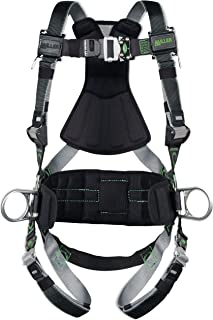 Miller Revolution Full Body Safety Harness with Quick Connectors, Side D-Rings & Pad, Universal Size-Large/XL, 400 lb. Capacity (RDT-QC-DP/UBK)