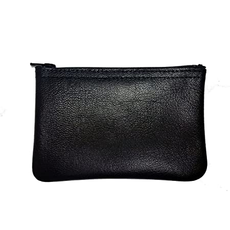Mens /& LadiesSMALL Soft Real Leather Coin Purse Coin Case PouchFour Zips
