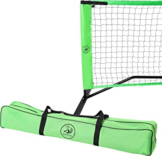 Bullfrog Pickleball Set – Portable Pickleball Net with Frame, Padded Feet, Pickleball Bag and Assembly Instructions – Perfect for Indoor or Outdoor Pickle Ball