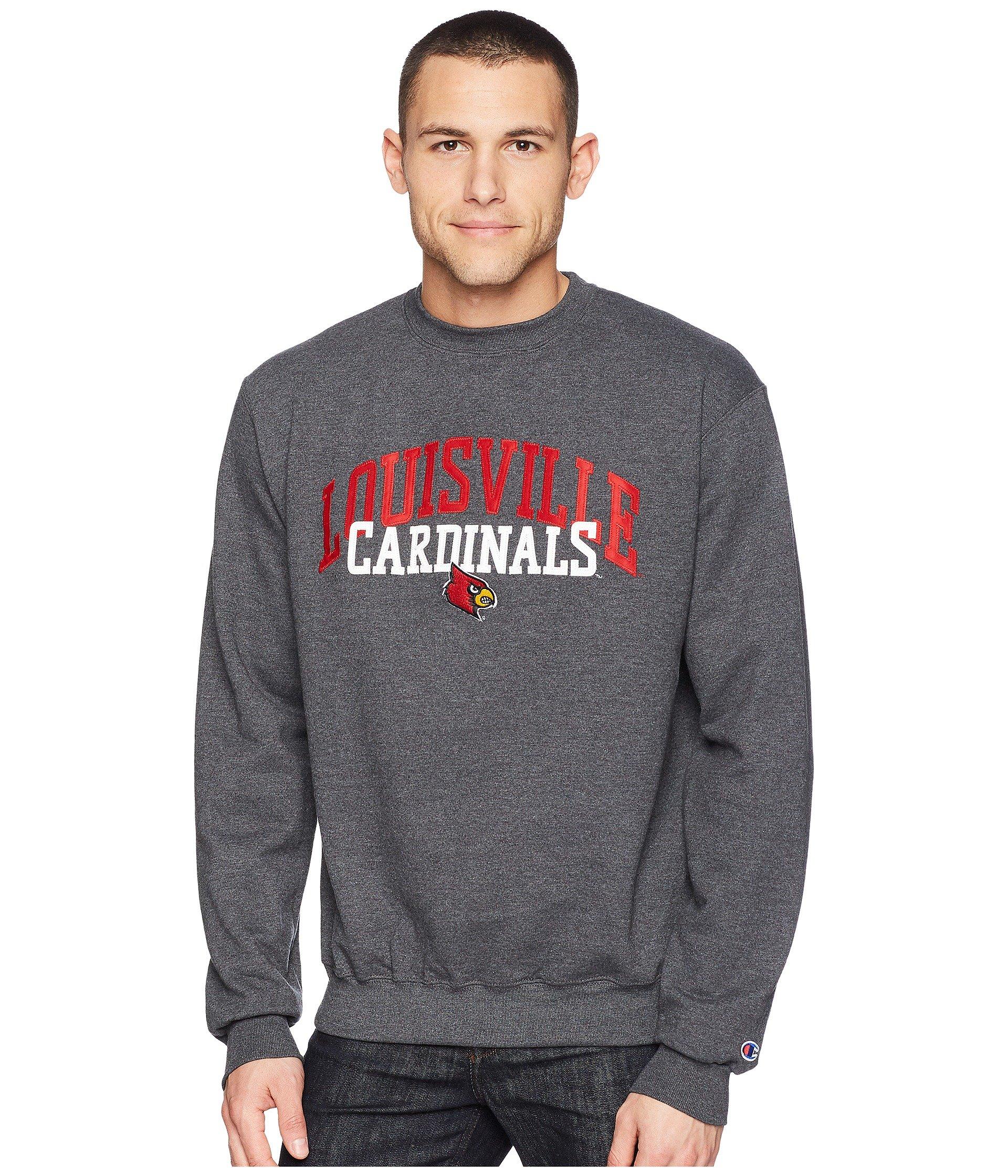 Buzo o Chaqueta Deportiva para Hombre Champion College Louisville Cardinals Eco® Powerblend® Crew  + Champion en VeoyCompro.net